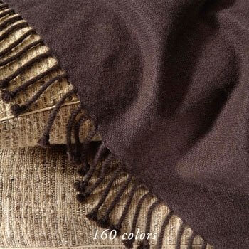 AMDO 4-PLY CREPE WEAVE CASHMERE THROWS