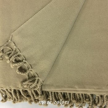 Anichini Amdo Hand Loomed 4-Ply Crepe Weave Throws