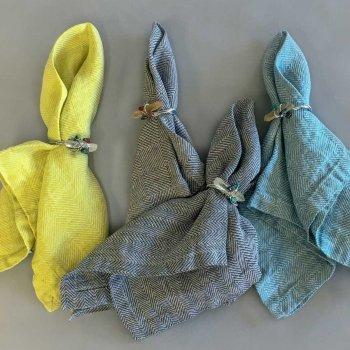Anichini Nuplauti Herringbone & Rhomb Weave Napkins