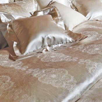 Anichini Alba Silk Sateen Pillow Cases And Shams