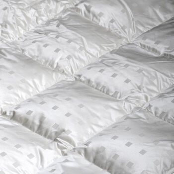 Anichini Caree Modern Squares Luxury Silk Covered Pillows Down Duvets Comforters
