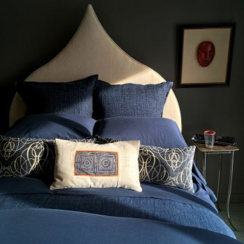 MICHELLE CASHMERE SHEETS IN DEEP MARINE BLUE