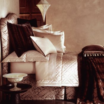 Anichini Lucrezia Italian Sateen Sheets in Truffle