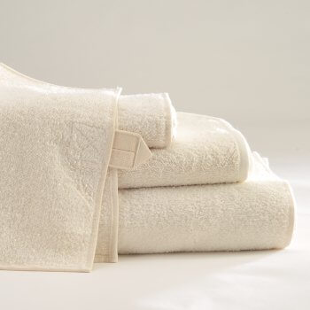 Vilnius Linen Terry Bath Linens In Ivory