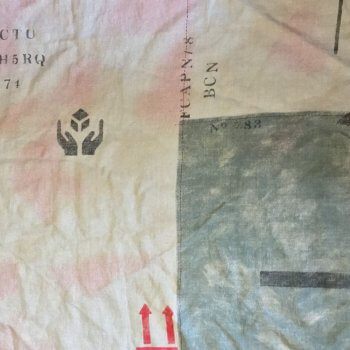 Anichini Yutes Amberes Marbore Linen Feed Sack Fabric