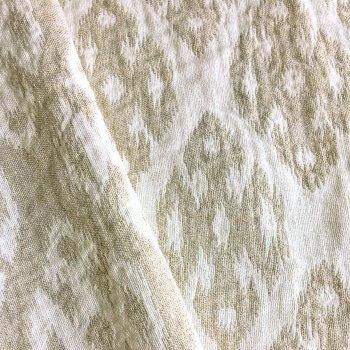 Anichini Tokkat Small Diamonds Modern Diamond Pattern Linen Shower Curtains