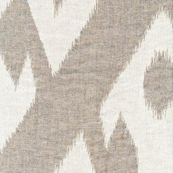Anichini Tokkat Big Diamonds Modern Diamond Pattern Linen Shower Curtains