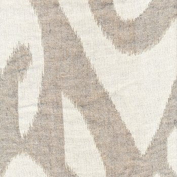 Anichini Yutes Collection Tokkat Super Large Ikat Linen Matelassé Fabric