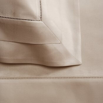 Anichini Lucrezia Italian Sateen Sheeting in Truffle
