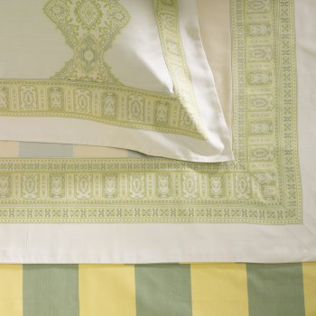Anichini Persia Twill Jacquard Sheeting in Green