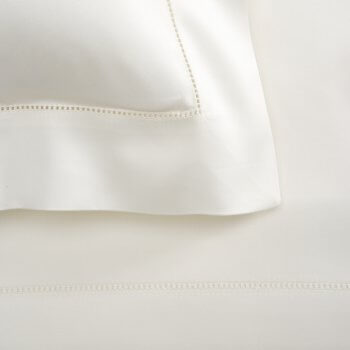 Anichini Raso Sateen Hemstitched Sheets in Ivory