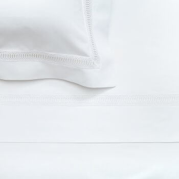 Anichini Avila Luxury Italian Percale Egyptian Cotton Sheets with Swiss Lace
