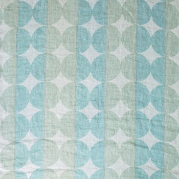 Anichini Yutes Collection Contorno Modern Graphic Linen Fabric In Spaqua