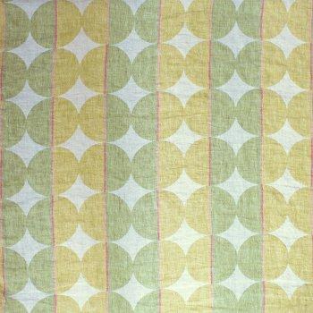 Anichini Contorno Lightweight Linen Modern Circular Pattern Quilts In Olive Green