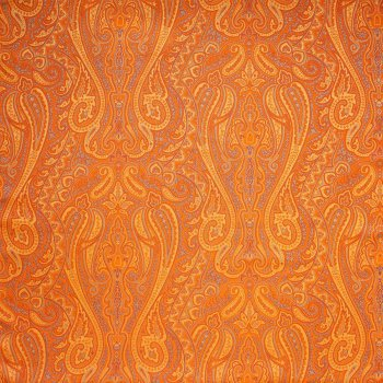 Anichini Kashmir Paisley Italian Jacquard Fabric In Orange