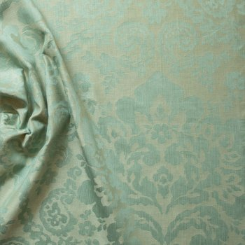 Anichini Lido Floral Paisley Linen Jacquard Table Linens