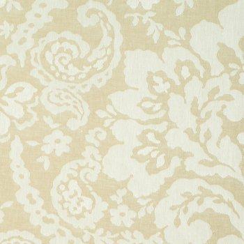 Anichini Lido Linen Jacquard Fabric By The Yard In Khaki White
