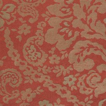 Anichini Lido Linen Jacquard Fabric By The Yard In Terracotta Mocha