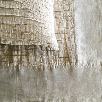 Anichini Linen Plissé Coverlets And Shams In Natural