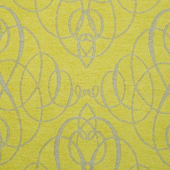 Anichini Mozart Chenille Fabric By The Yard In Citrine Neutral