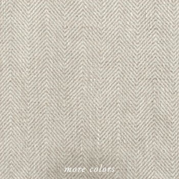 Anichini Herringbone Linen Shower Curtains