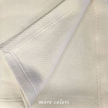 NORBU 6-PLY HERRINGBONE WEAVE CASHMERE BLANKETS & THROWS (CUSTOM)