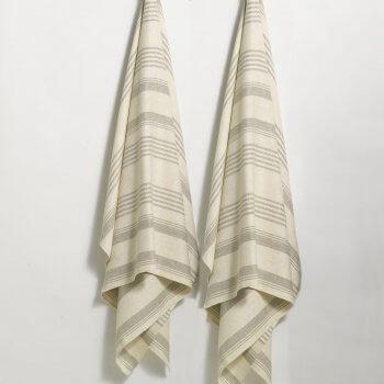 Anichini Olga Striped Flatweave Linen Guest Towels