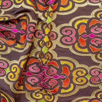 Anichini Pema Colorful Embroidered Tibetan Fabric By The Yard