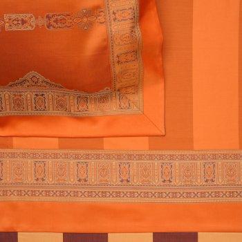 Anichini Persia Twill Jacquard Sheets in Orange
