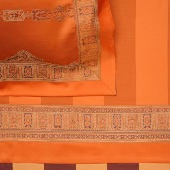 Anichini Persia Twill Jacquard Sheeting in Orange