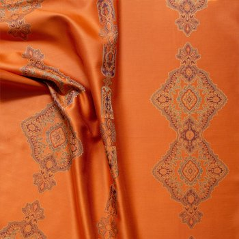 Anichini Persia Medallion Shower Curtains In Orange Front Side