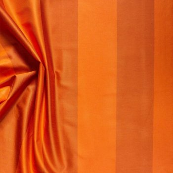 Anichini Persia Wide Stripe Shower Curtains In Orange Front Side