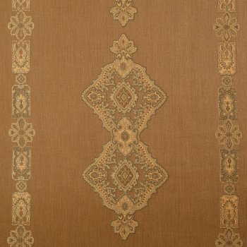 Anichini Persia Jacquard Medallion Fabric By The Yard In Camel