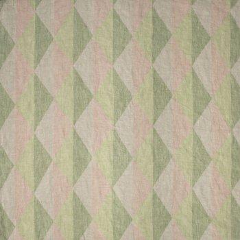 Anichini Yutes Collection Harlequin Diamond Jacquard Fabric In 02 Pink Green