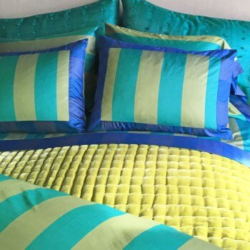Anichini Scheherazade Sheets In Turquoise / Citrine