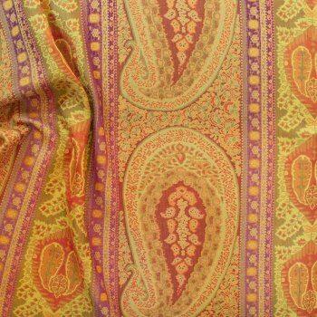 Anichini Taj Rust Sage Fabric Right Side