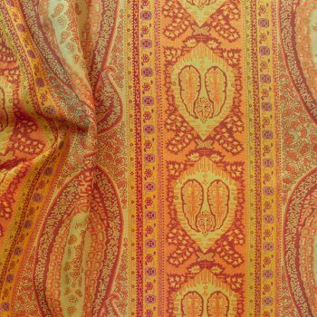 Anichini Taj Rust Sage Fabric Right Side