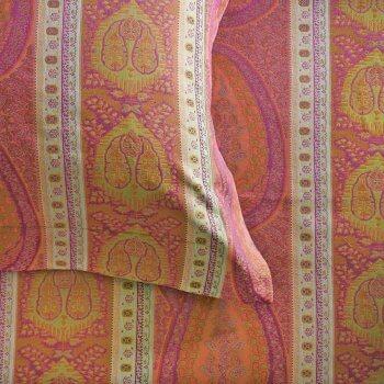 Anichini Taj Paisley Jacquard Sheets in Coral/Fuchsia