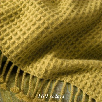 TENZIN 6-PLY WAFFLE WEAVE CASHMERE THROWS