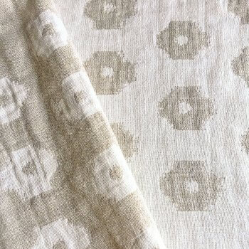 Anichini Tokkat Small Circles Linen Bedding, Coverlets, and Shams