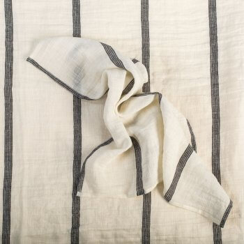 Anichini Valdas Striped Linen Table Linens