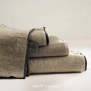 VILNIUS SOLID LINEN TERRY GUEST TOWELS