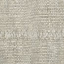 Anichini Yutes Collection Arcs Seamed Linen Fabric In Grey
