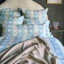 Anichini Contorno Linen Circle Pattern Decorative Pillows In Spaqua