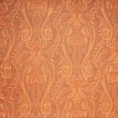 Anichini Kashmir Paisley Italian Jacquard Fabric In Orange