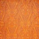 Anichini Kashmir Luxurious Paisley Lightweight Italian Quilts In Orange