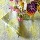 Anichini Puzzle Diamond Pattern Linen Tablecloths In Yellow Grey