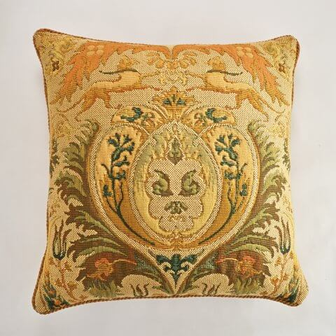 ANICHINI Charlemagne Tapestry Pillows Traditional Italian Tapestry Impressive Italian Decorative Pillows
