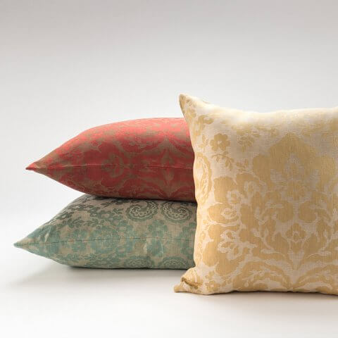 ANICHINI Lido Linen Pillows Italian Linen Jacquard Pillows Classy Italian Decorative Pillows