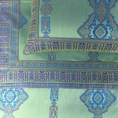 Anichini Persia 2.0 Jacquard Sheeting In Jade Green